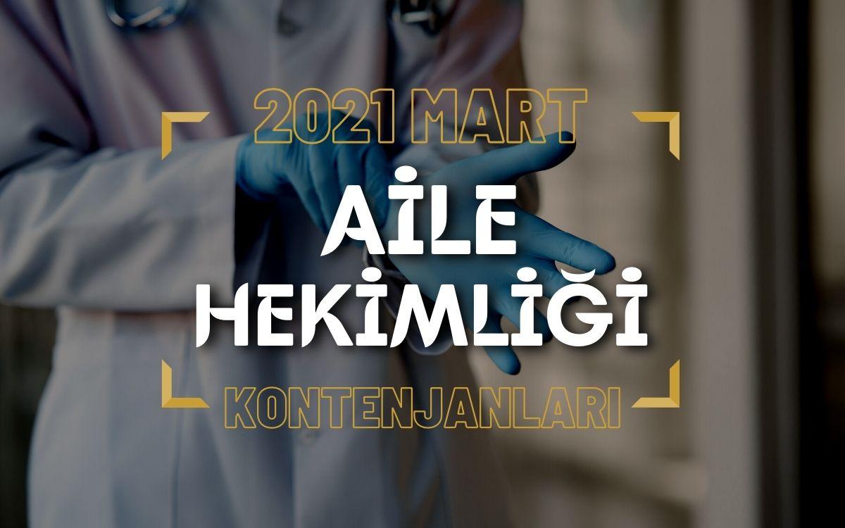 2021 Mart TUS'u Aile Hekimliği Kontenjanları