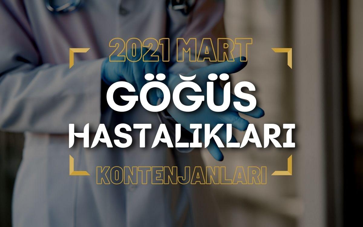 2021 Mart TUS'u Göğüs Hastalıkları Kontenjanları