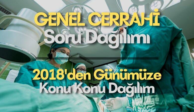 Genel Cerrahi Soru Dağılımı | KONU KONU Dağılım